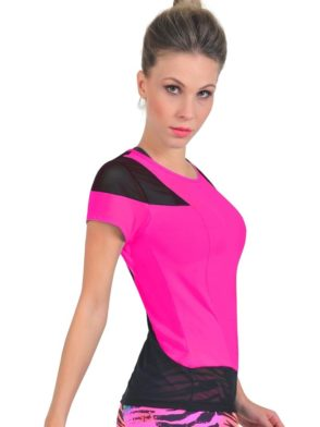 Bia Brazil TT4409 Mesh Hot Pink-Sexy Workout Tops