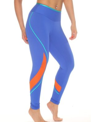 CAJUBRASIL 4867 Sexy Leggings Brazilian Recortes Blue
