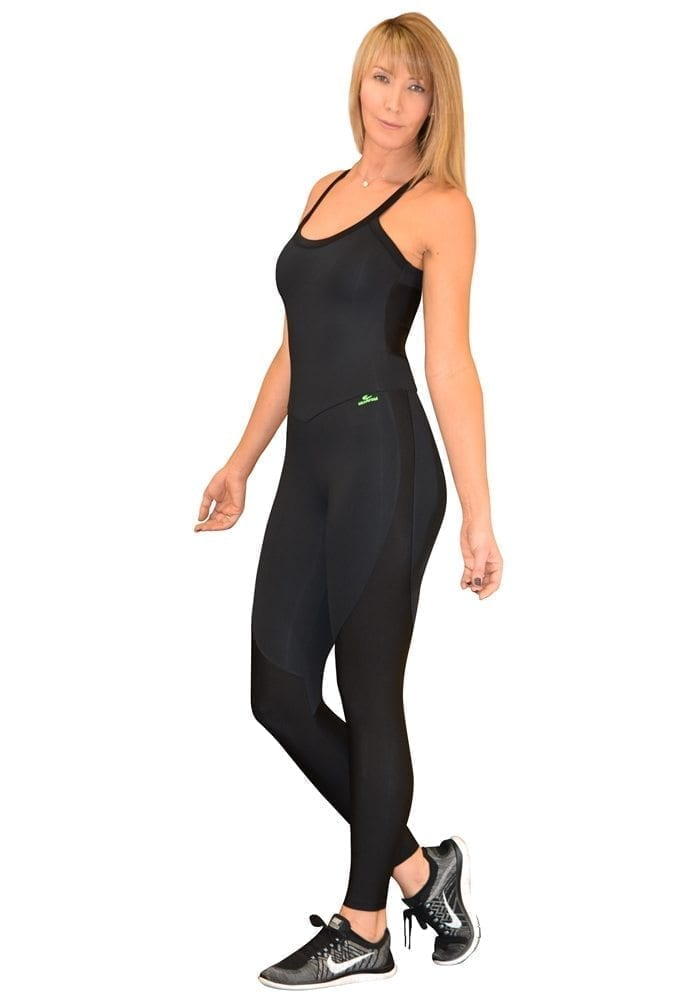 CAJUBRASIL 5680 Sexy Workout One-Piece Bodysuit Yoga Black