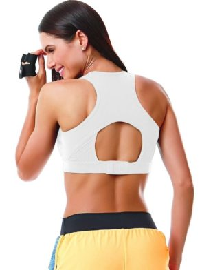 CAJUBRASIL 5600 Sexy Sports Bra Top SU Mesh White