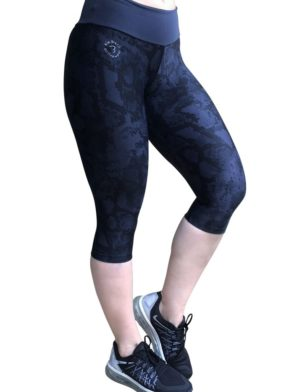 Bia Brazil SL4069 Charcoal Snake-Sexy Capris-Activewear