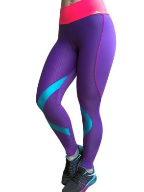 CAJUBRASIL 5228 Sexy Leggings Brazilian Curves Purple
