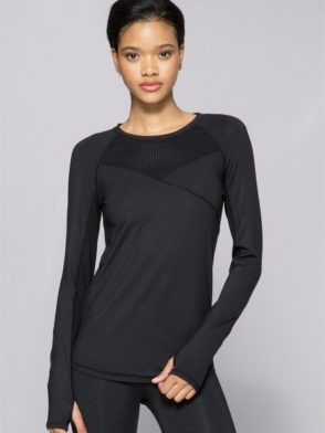 ALALA Tops Run Crew Long Sleeve BK Sexy Workout Tops