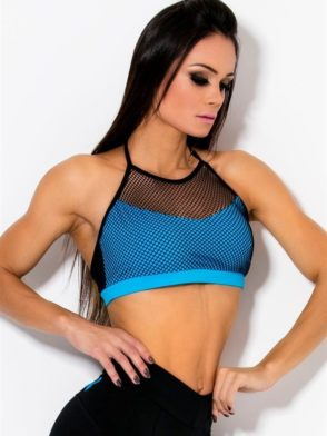 CANOAN  Sports Bra TOP 70461 Blue BK Sexy Workout Tops