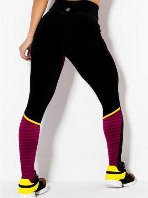 CANOAN  Leggings 11017 Black Burgundy Sexy Workout Pants