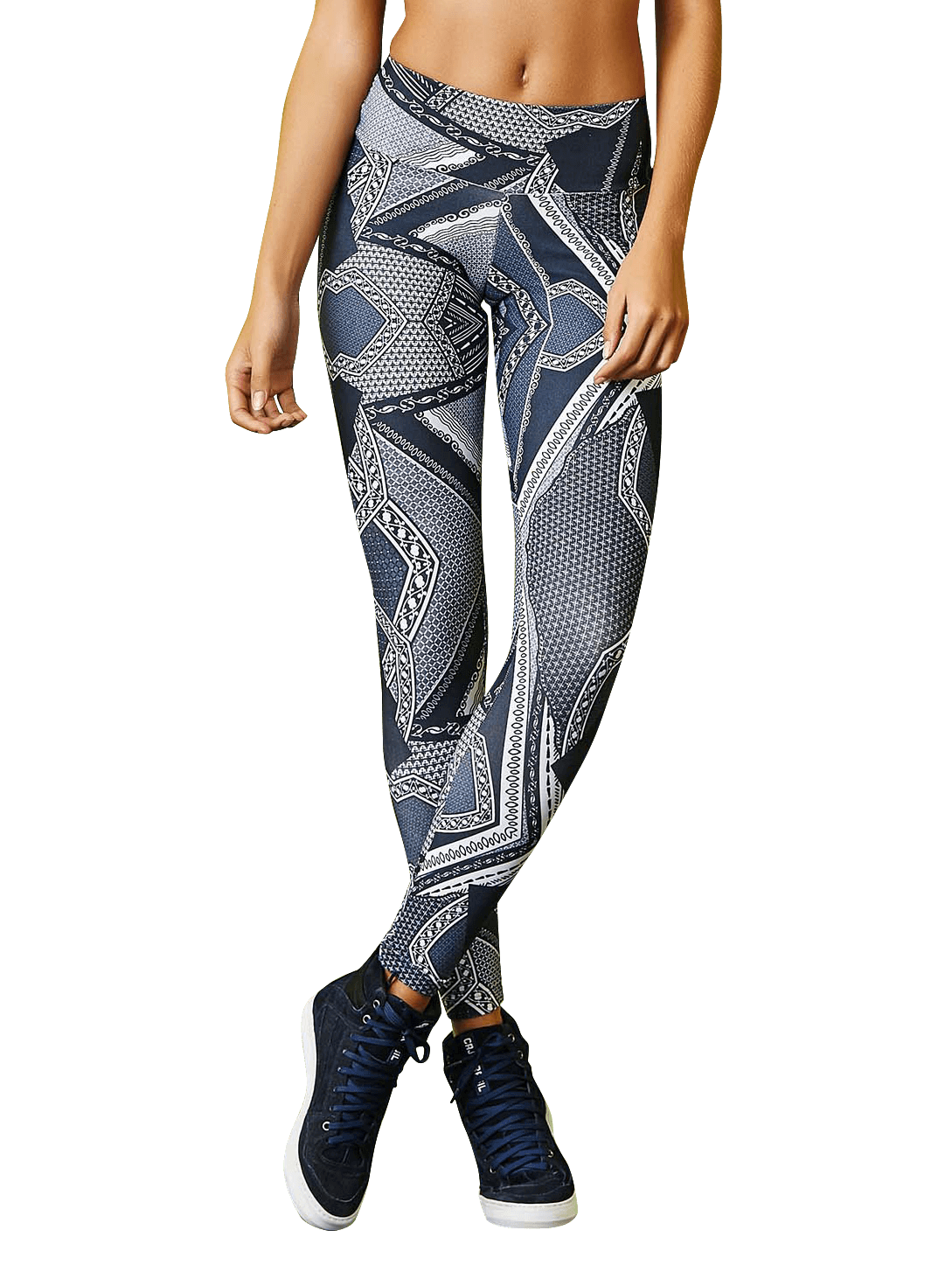 CAJUBRASIL 7904 Sexy Leggings Brazilian Abstract Print-front