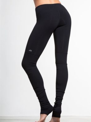 ALO Yoga Goddess Legging Ribbed Black Sexy Yoga Leggings