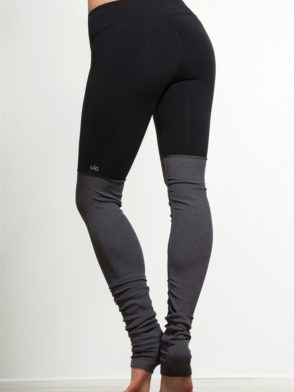 ALO Yoga Goddess Legging Black Heather Sexy Yoga Leggings