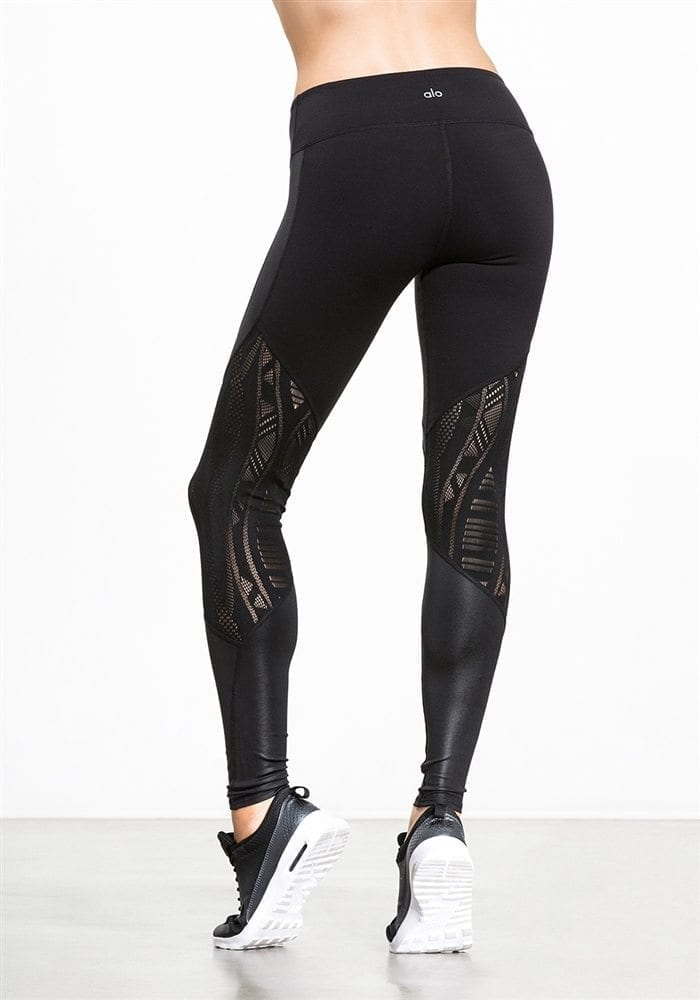 ALO Yoga Sexy Vitality Yoga Leggings Sexy Pilates Leggings Black
