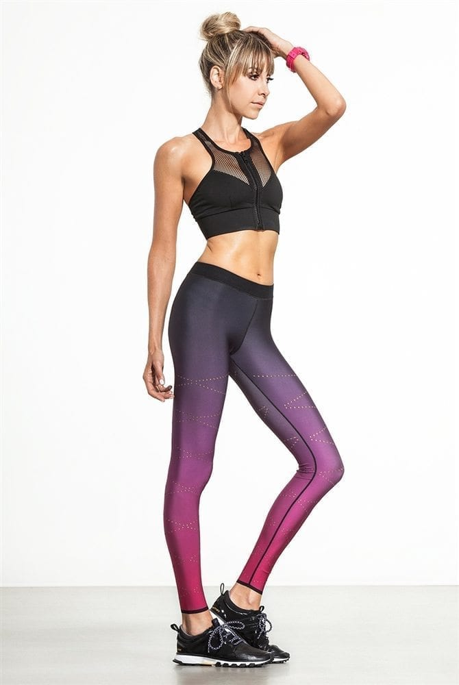 2678832f66ffd ... ULTRACOR Leggings High Silk Zig Zag Pixelate Leggings - Sexy Workout  Clothes Yoga Leggings