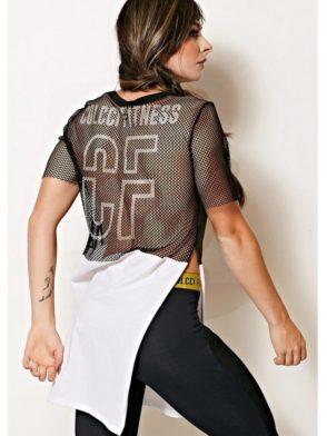 COLCCI FITNESS T-Shirt Mesh Top Work Hard Play Hard