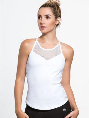 ALO Yoga Elite Tank Top -Sexy Yoga Tops White