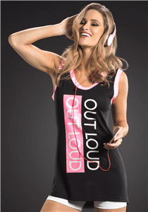 "OXYFIT Tank Top ""Out Loud"" 46332- Sexy Sports Tops"