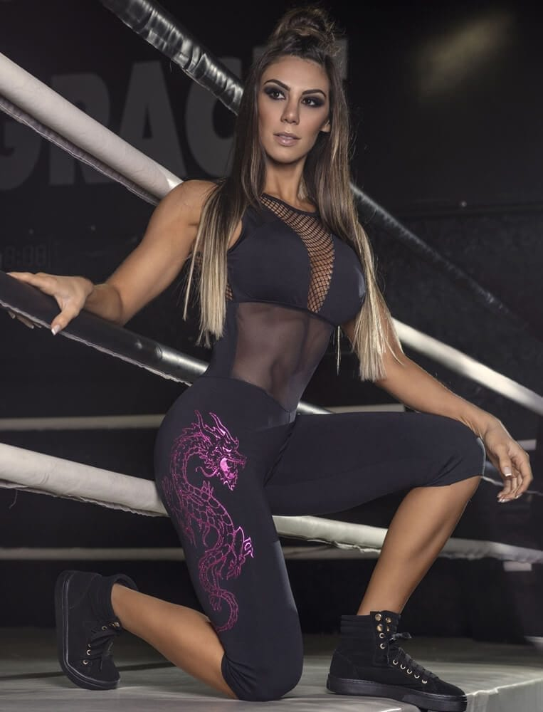 SUPERHOT MAC1255 Sexy Workout Leggings Short Jumpsuit Romper