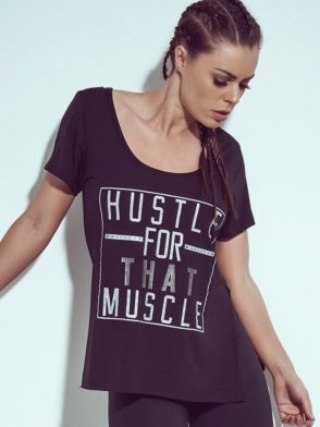 SUPERHOT T-Shirt BL727 Hustle For That Muscle Sexy Workout Tops