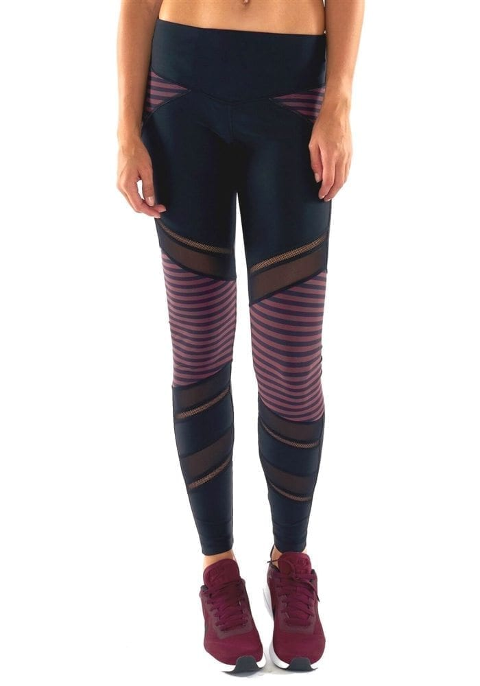 L'URV Leggings Nautical and Nice Moto Leggings Raisin Sexy Workout Tights