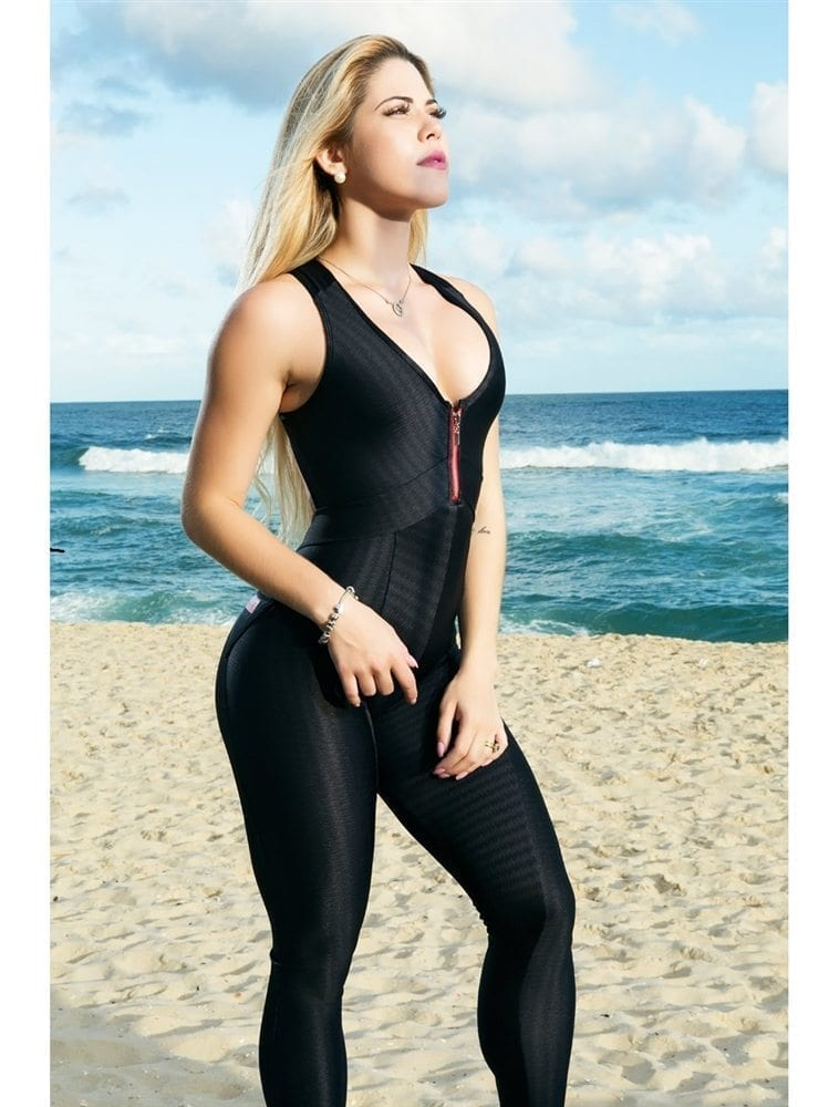DYNAMITE Jumpsuit ML2092 Black Lava-Sexy One-Piece Romper