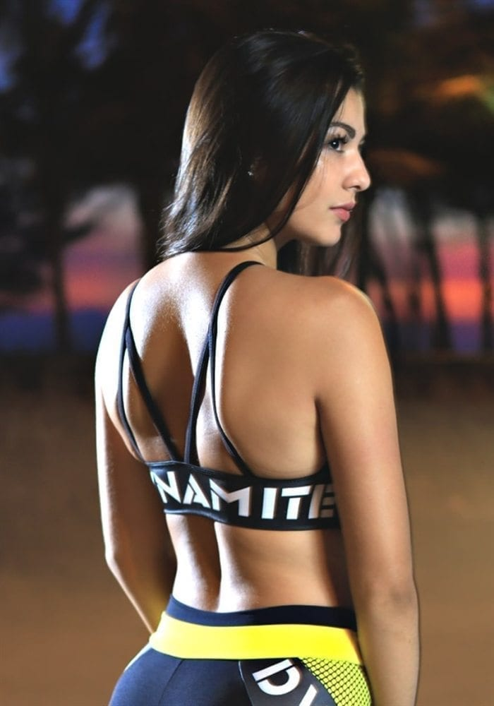 DYNAMITE Sports Bra Top T2001-1 Top Drop Neon Yellow-Sexy Tops