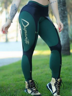 DYNAMITE Brazil Leggings L989-18 Olive Martial Sexy Workout Leggings