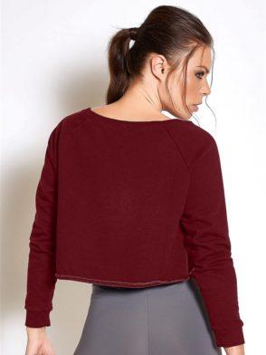 COLCCI FITNESS Sweat-Shirt 405700032 Long Sleeve Crop Burgundy
