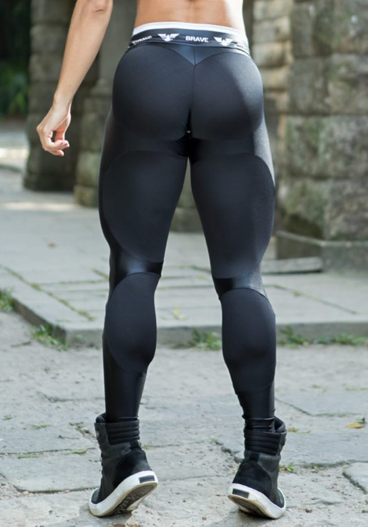 Black Booty In Leggings-6235