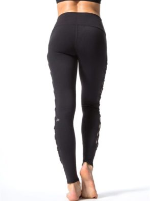 ALO Yoga Interlace Leggings Sexy Yoga Pants - black
