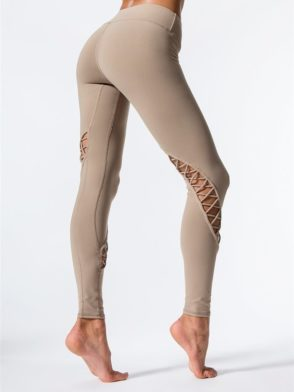 ALO Yoga Entwine Leggings Sexy Yoga Pants – Gravel