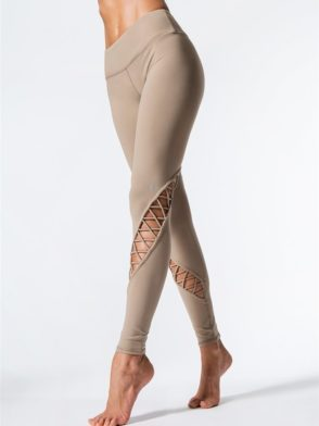 ALO Yoga Entwine Leggings Sexy Yoga Pants - Gravel
