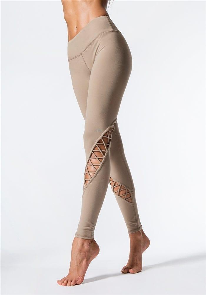 ALO Yoga Entwine Leggings Sexy Yoga Pants - Gravel