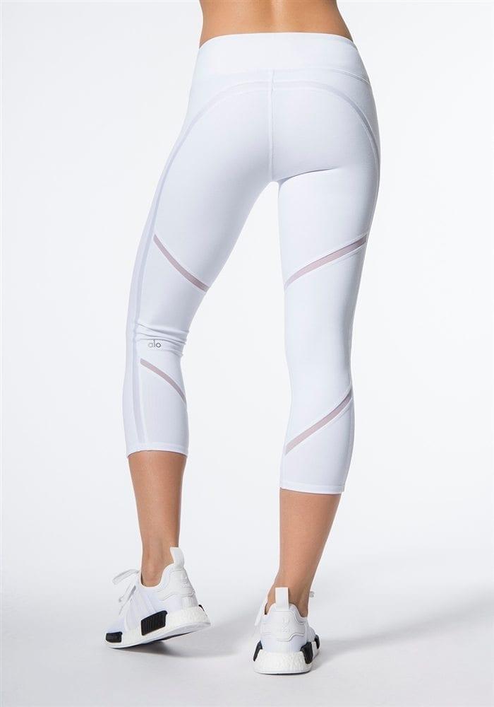 ALO Yoga Continuity Capri Sexy Leggings - white