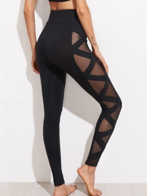 ECO Mesh Panel Bandage Leggings