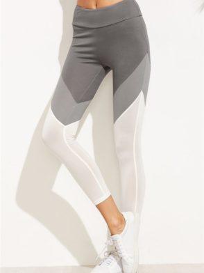 3d75344a7462a ECO Color Block Wide Waistband Leggings Yoga Pilates Leggings Black ...