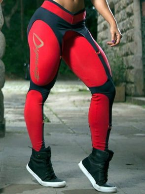 DYNAMITE Brazil Leggings L989 Black Red Corset Legging