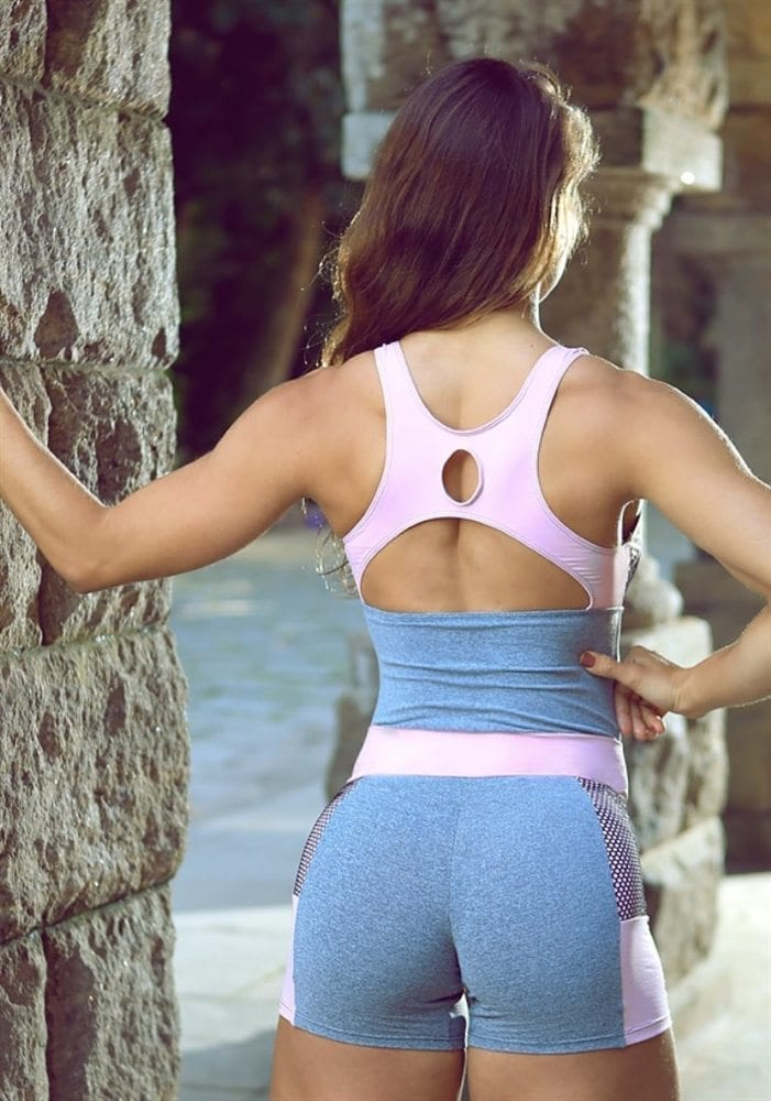 DYNAMITE Blusa Mescla Rosa Recorte BL203 -Sexy Tops Jersey Pink
