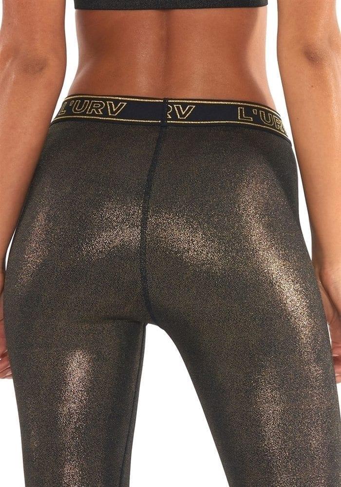 4c72d0e87589c L'URV Leggings ALL THAT GLITTERS Legging Sexy Workout Tights Black Gold