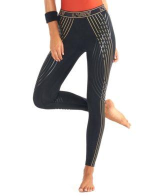 L'URV Leggings LAST TRACK STRIPE Legging Sexy Workout Tights Black