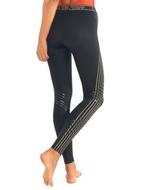 L'URV Leggings LAST TRACK STRIPE Legging Sexy Workout Tights Black