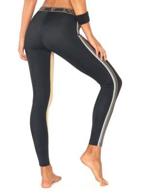 L'URV Leggings Disco City Stripe Leggings Sexy Workout Tights BK