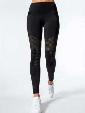 L'URV Leggings Race Ready Moto Leggings Sexy Workout Tights Black