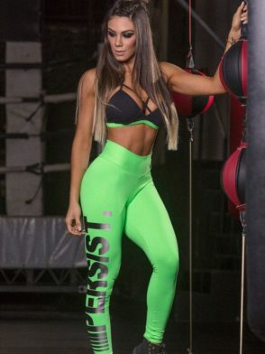 SUPERHOT Leggings CAL1182 Sexy Workout Leggings Persist Green
