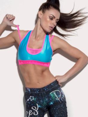SUPERHOT Bra TOP1223 SEXY Workout Tops Cute YOGA Sport Bra Blue