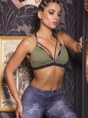 SUPERHOT Bra TOP1280  SEXY Workout Tops Cute YOGA Sport Bra Prime Green