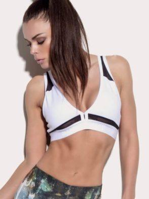 SUPERHOT Sports Bra TOP1231 Cute Yoga Sport Bra Hustle White