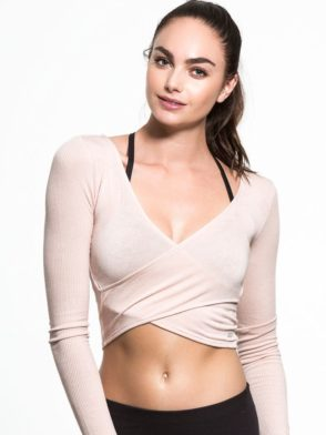 ALO Yoga Amelia Top Long Sleeve Crop Top -Sexy Yoga Top Buff