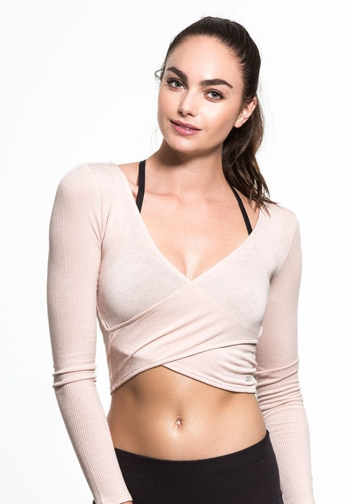 ALO Yoga Amelia Top Long Sleeve Crop Top -Sexy Yoga Top Buff