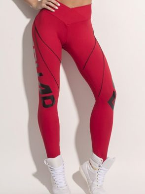 SUPERHOT Leggings CAL1000 Sexy Workout Leggings SQUAD GOALS Red