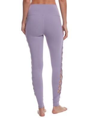 ALO Yoga Interlace Leggings Sexy Yoga Pants - Lilac Twilight