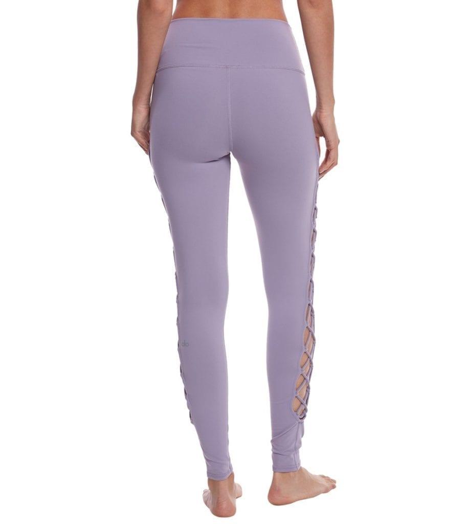 ALO Yoga Interlace Leggings Sexy Yoga Pants - Lilac Twilight