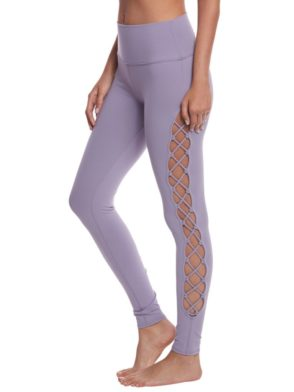 ALO Yoga Interlace Leggings Sexy Yoga Pants – Lilac Twilight