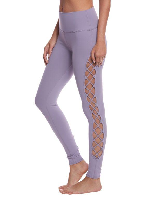 ALO Yoga Interlace Leggings Sexy Yoga Pants – Lilac Twilight